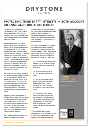 BMH_Protecting Third Party interests