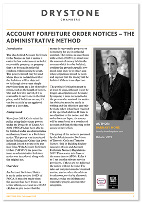 Account Forfiture Order Notices