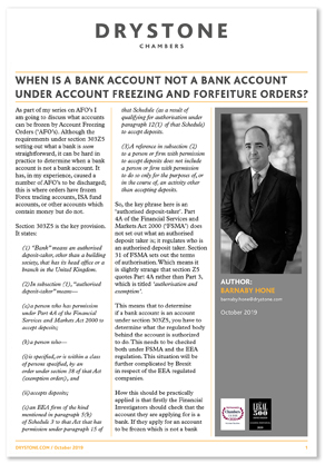 BMH_When is a Bank account not a Bank account