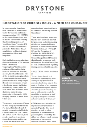 OH Importation of Child Sex Dolls