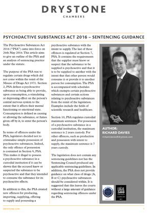 Psychoactive Substances Act 2016